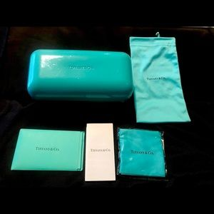 Tiffany & Co Sunglass/Eyeglass (Large) Case with Accessories